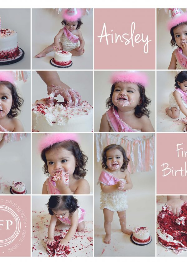 Ainsley's One Year Cake Smash | Frisco Baby Photographer