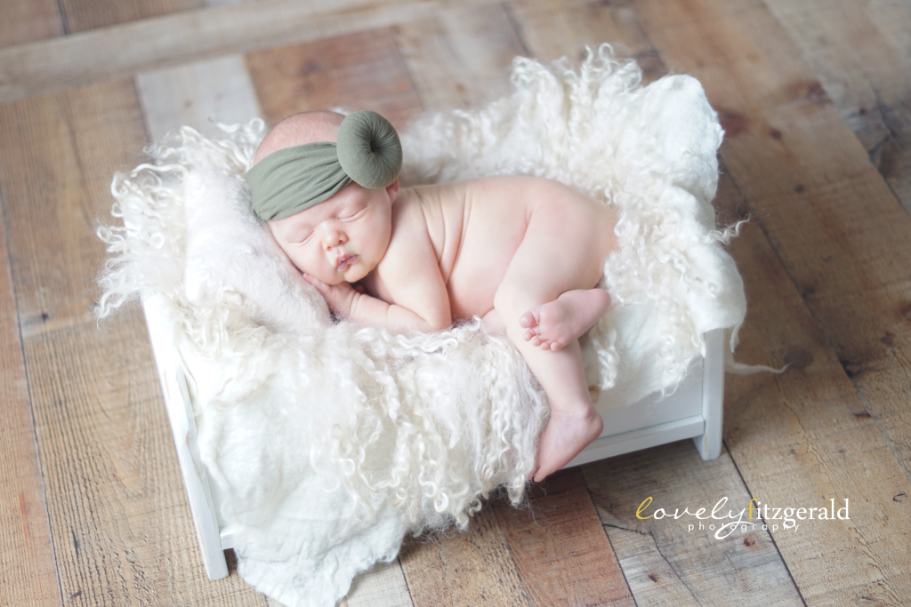 Lewisville Newborn Photographer, wood baby bed
